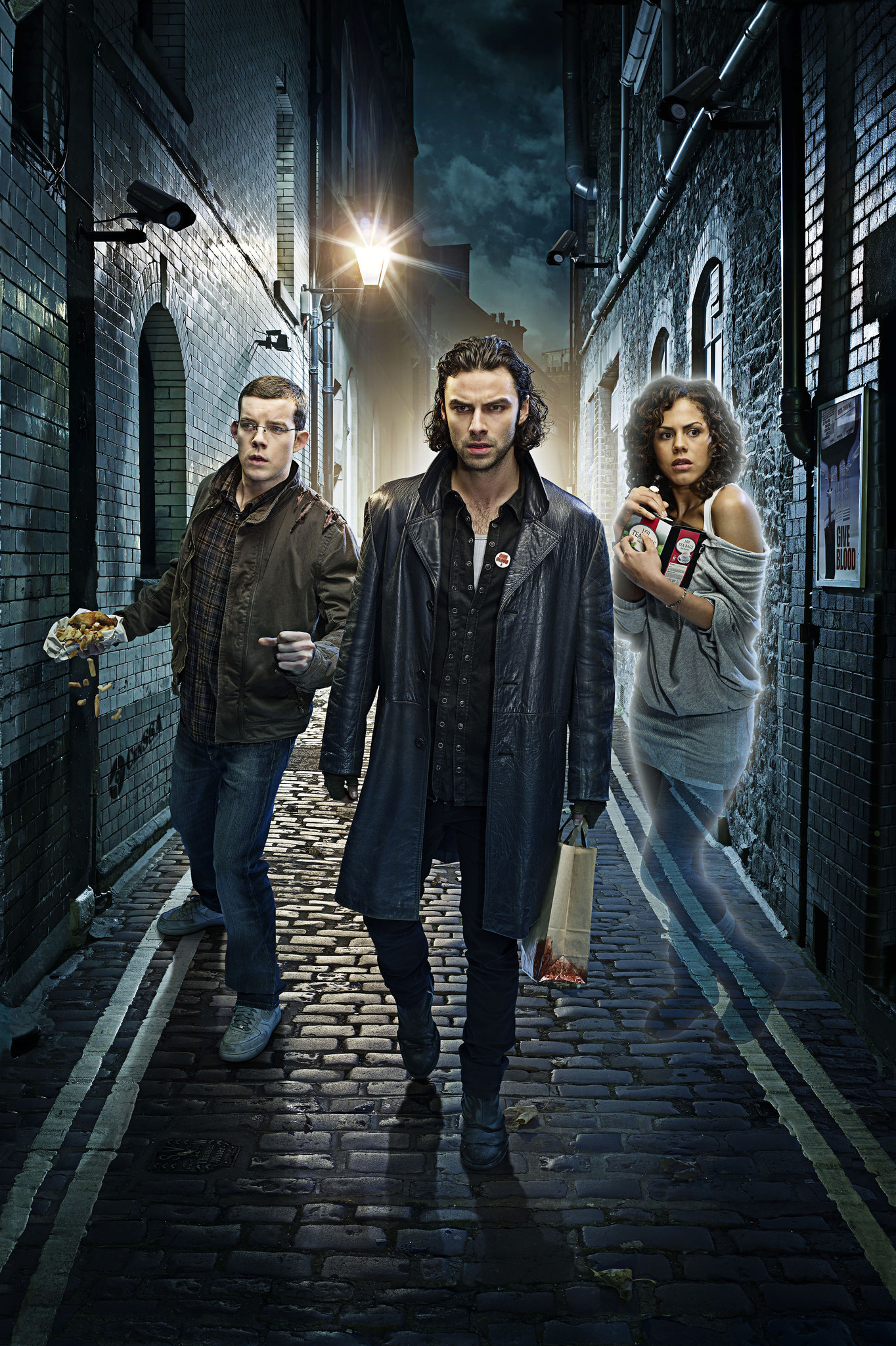 Still of Russell Tovey, Lenora Crichlow and Aidan Turner in Being Human (2008) photo #502410