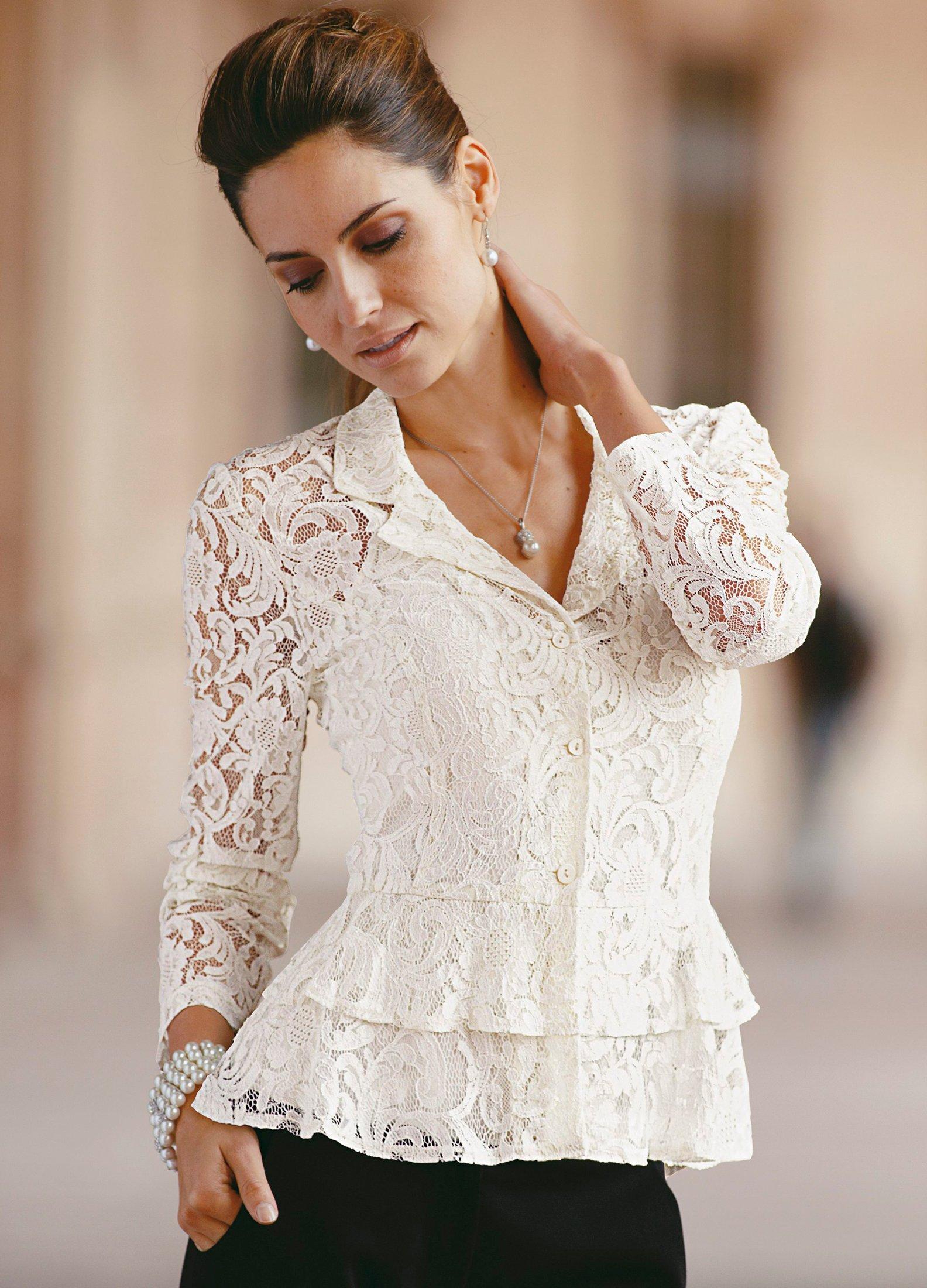Блузки И Кофточки Из Кружева