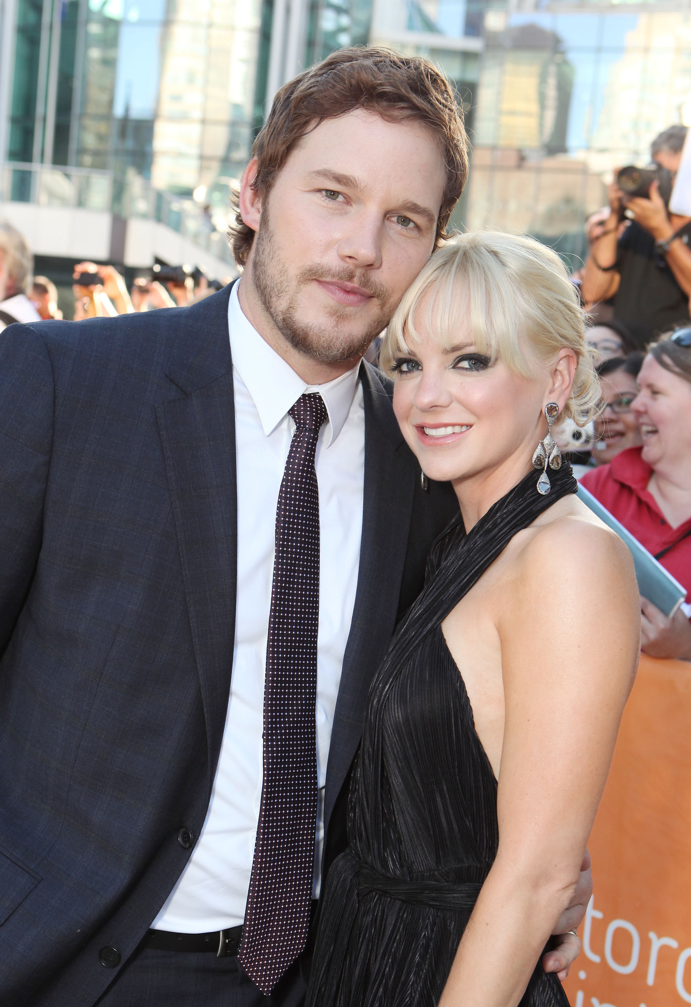 Anna Faris and Chris Pratt at event of Moneyball (2011) photo #489211