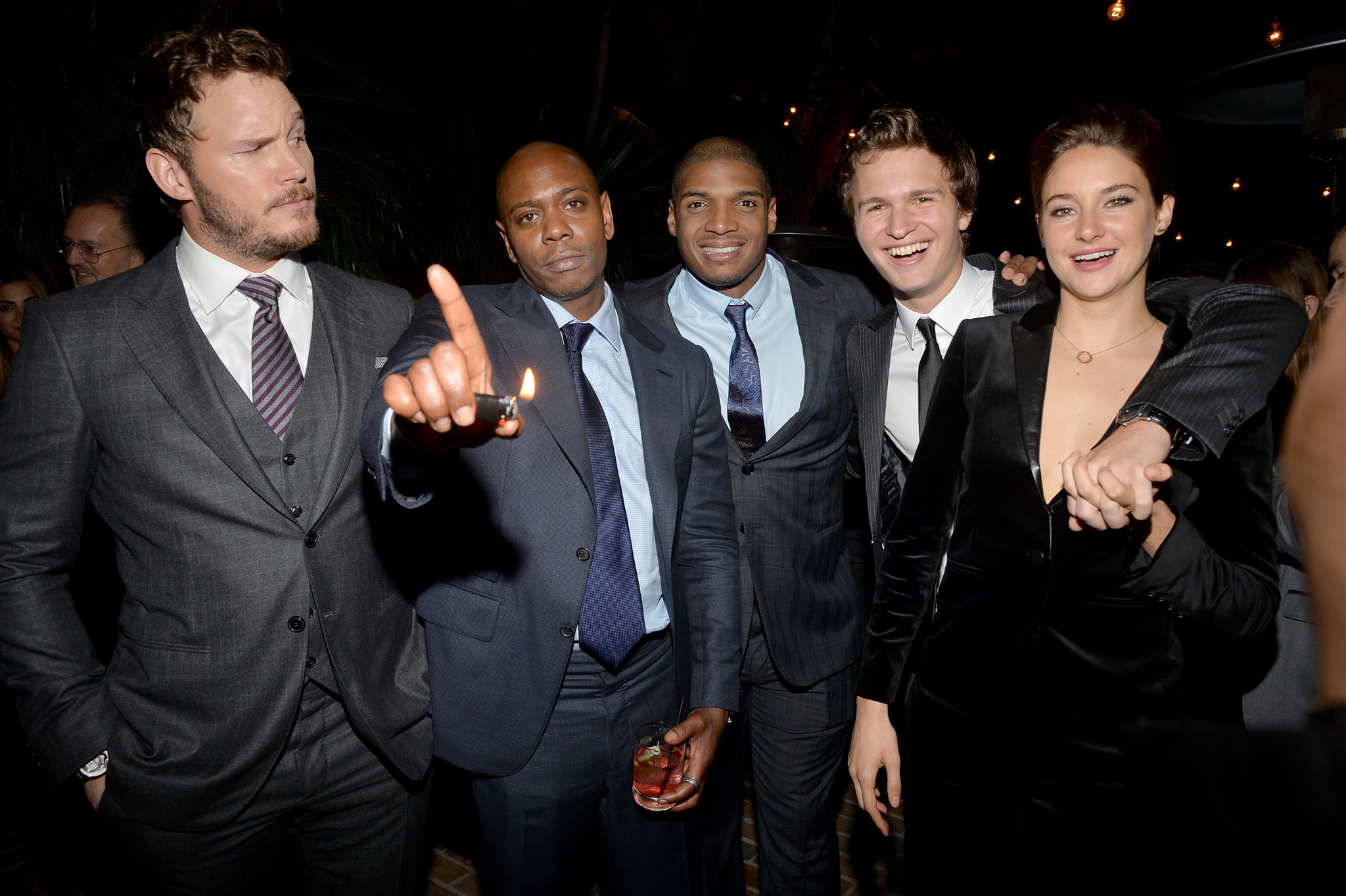 Dave Chappelle, Chris Pratt, Shailene Woodley, Ansel Elgort and Michael Sam photo #489105