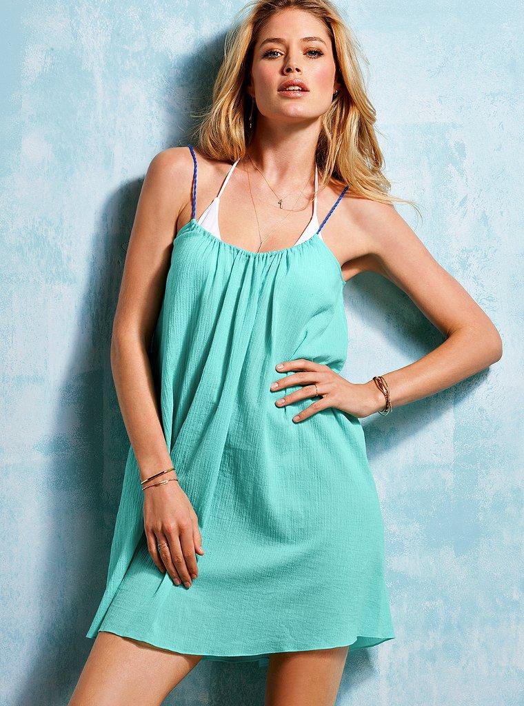 Doutzen Kroes Turquoise Cocktail Dresses