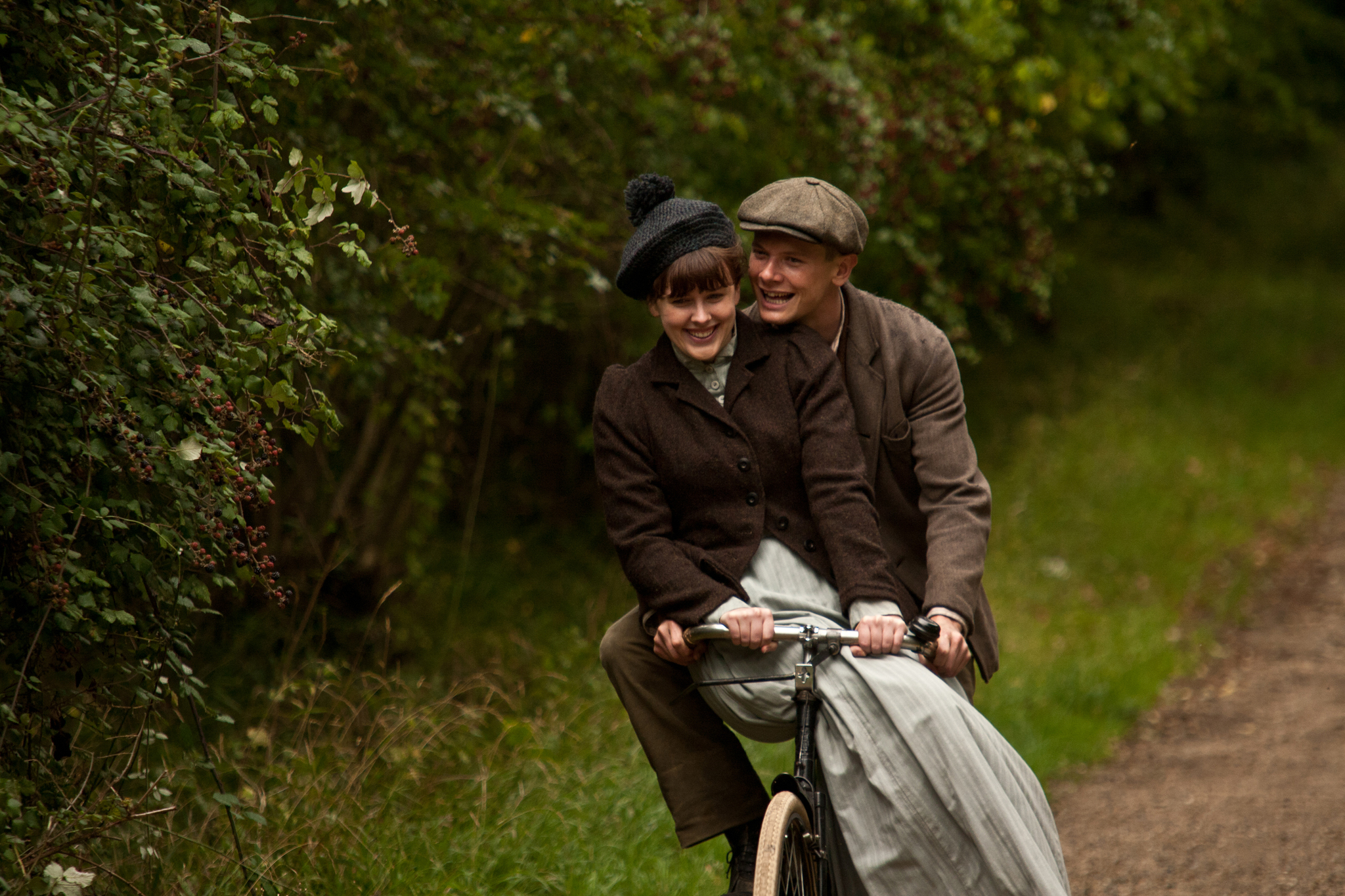Still of Jack O'Connell and Alexandra Roach in Private Peaceful (2012) photo #540474
