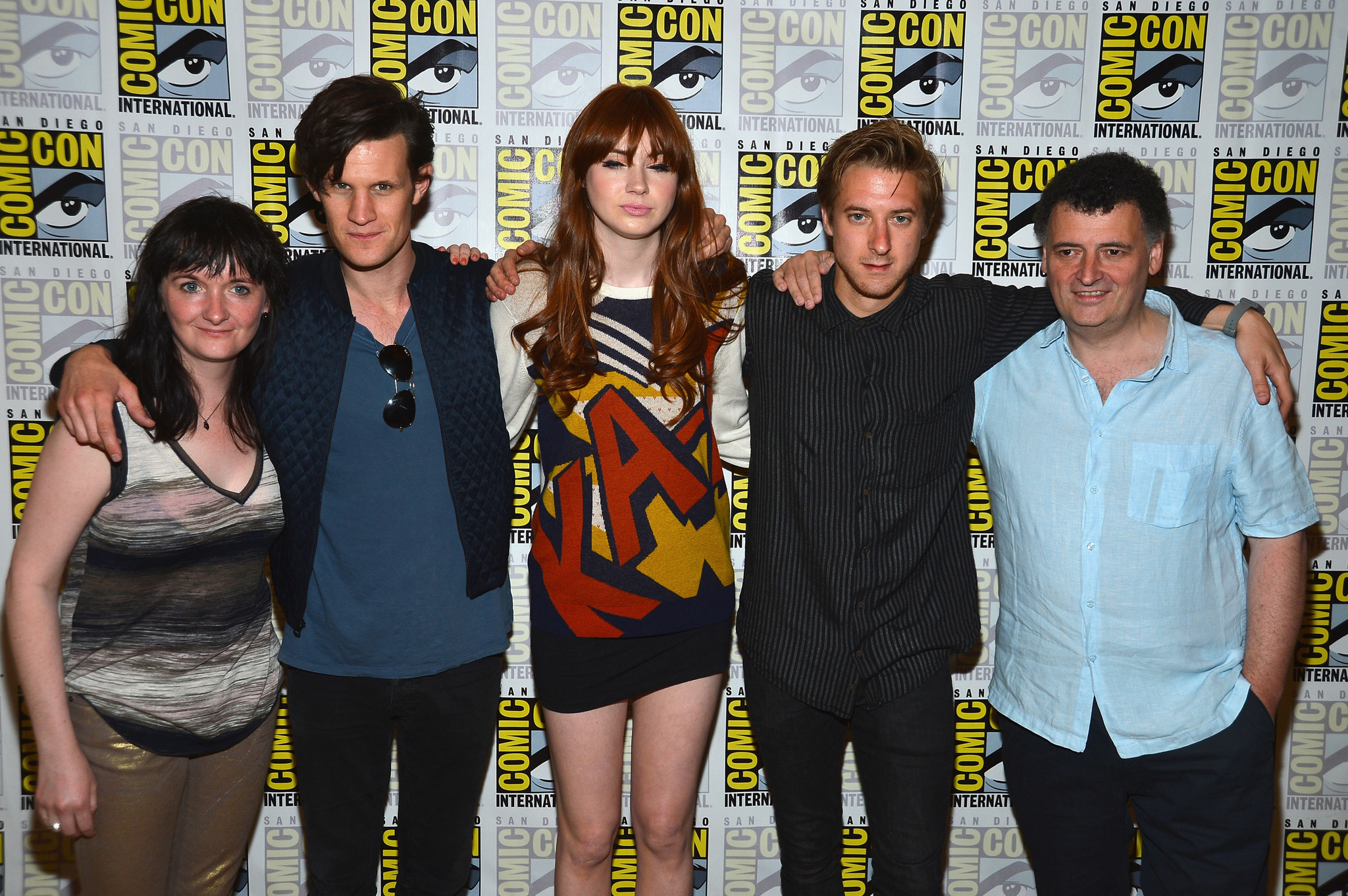 Steven Moffat, Caroline Skinner, Matt Smith, Karen Gillan and Arthur Darvill at event of Doctor Who (2005) photo #489546