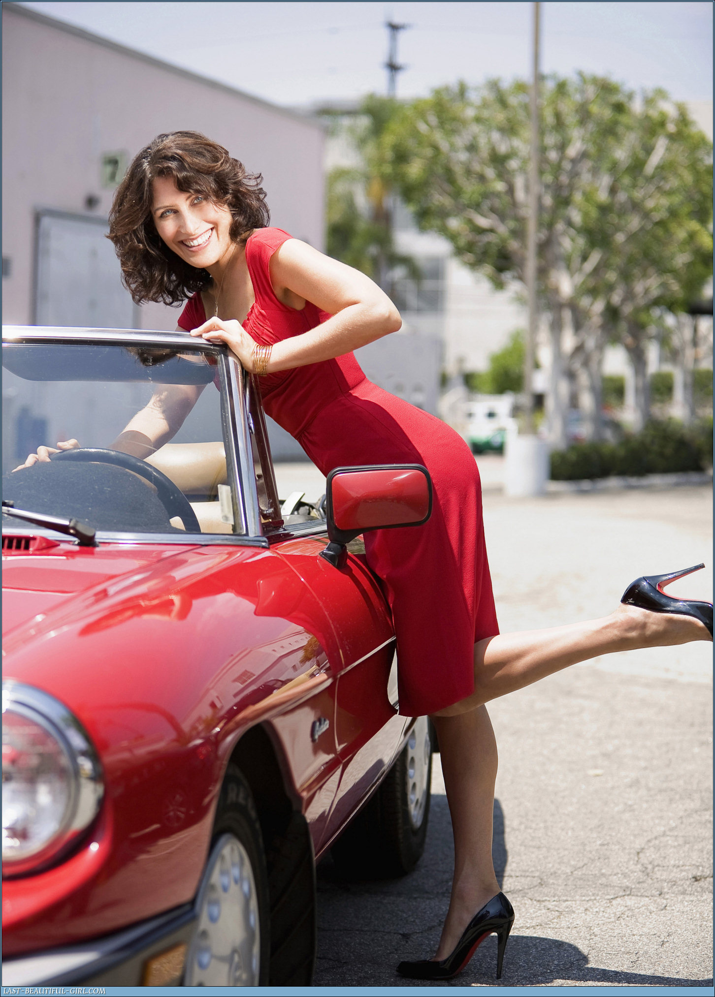 Lisa Edelstein on 2018 Alfa Romeo Spider